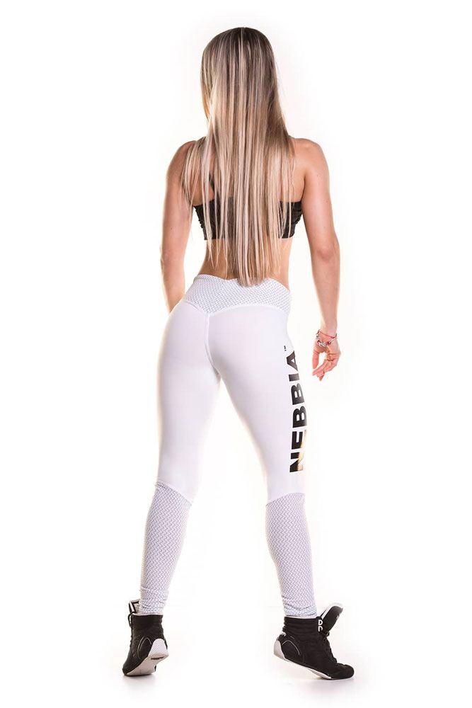 спортивные лосины белые