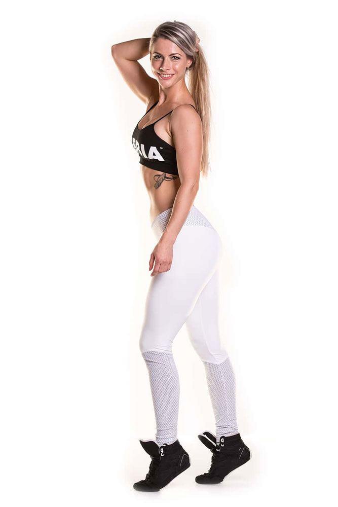 леггинсы белые для фитнеса
